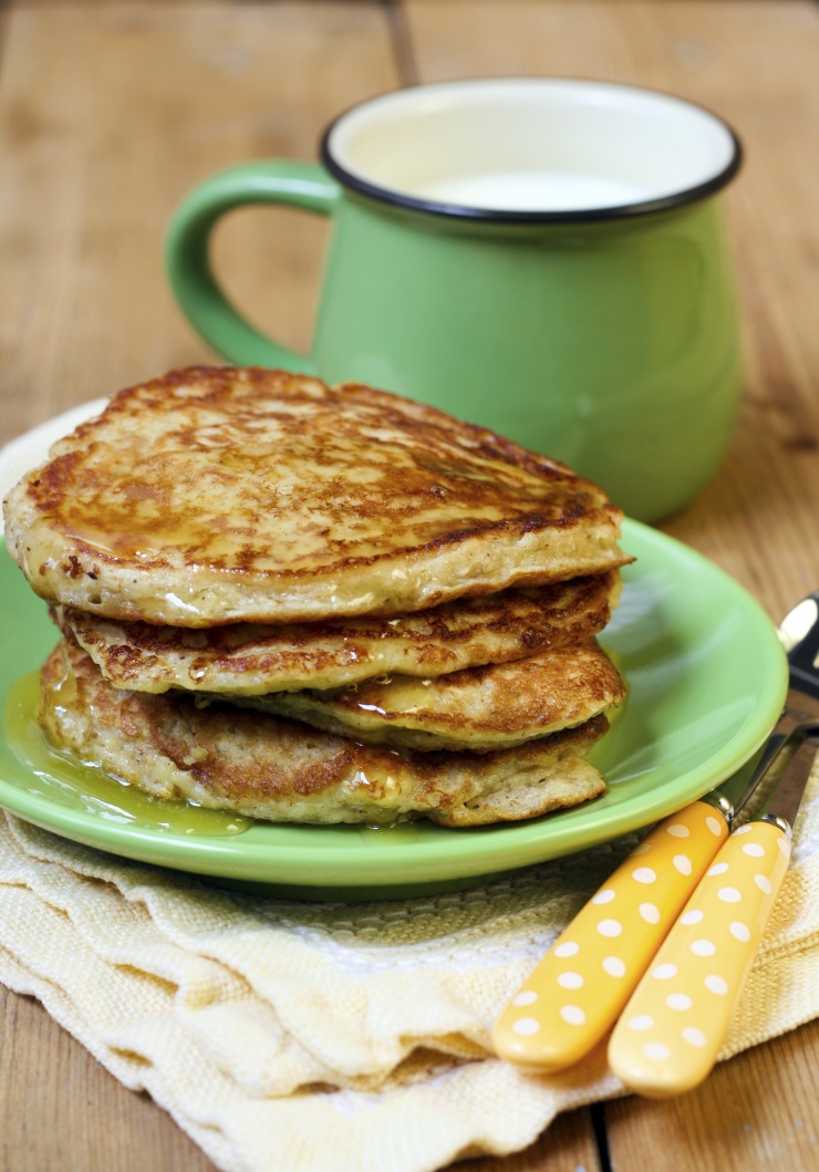 Whip up a double batch of freezer-friendly oatmeal pancakes.  This is a recipe you'll wanna file!