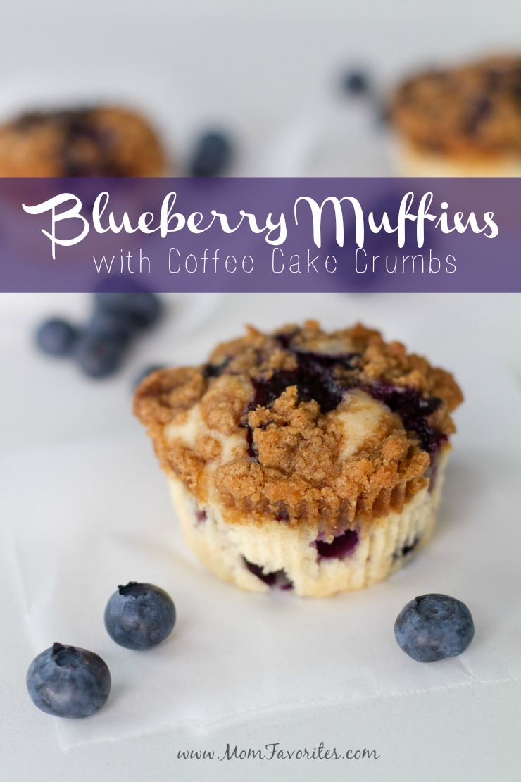 Blueberry Muffins. Coffee Cake Crumb Topping.  The best breakfast ever!  You'll be addicted to this fabulous breakfast recipe!