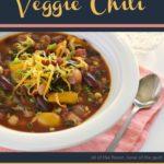 Healthful, Yet Filling Veggie Chili Recipe