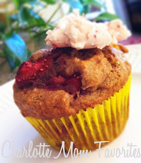 Strawberry Banana Muffins and a Butter to Go-With