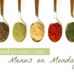 Menus on Mondays: 9/10/12
