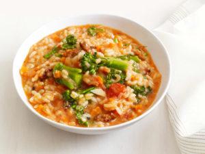 sausage broccolini risotto