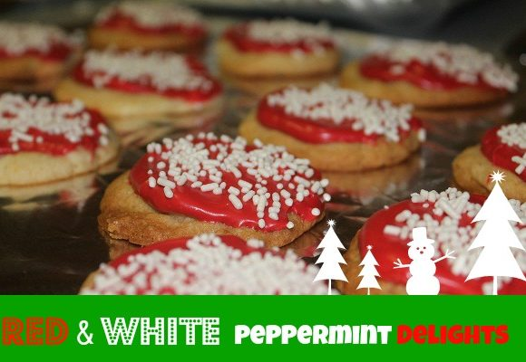 Christmas Cookie Time: Red & White Peppermint Delights Recipe