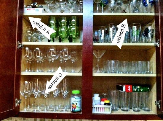 organized glassware