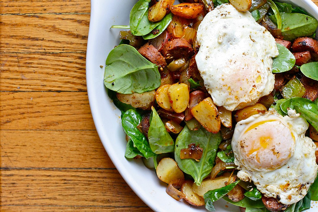 Spinach & Potato Hash
