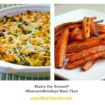 spaghetti squash gratin and carrots