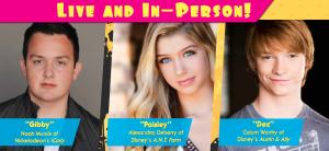 Disney Stars, Nickelodeon Stars, Noah Munck, Alexandria DeBerry, Calum Worthy, iCarly Show, Paisley Show, A.N.T. Farm