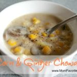 corn and ginger chowder