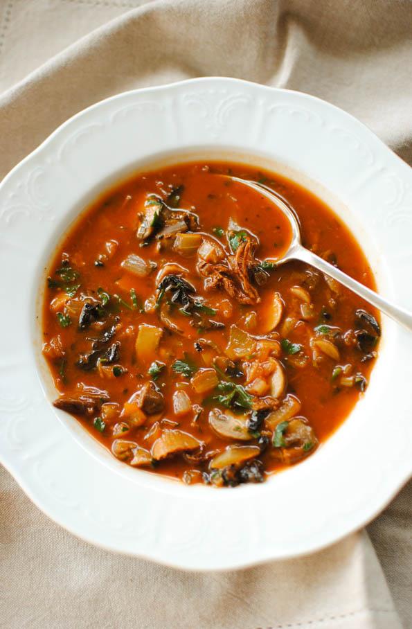 week 2 wild mushroom soup