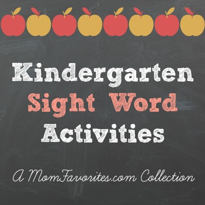 kindgergarten sight word activities