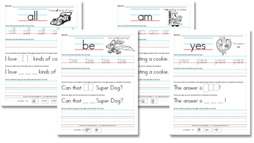 of boost sight Word literacy. Activities early worksheets word  Kindergarten the to Roundup Sight