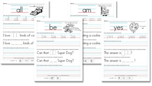 Kindergarten Sight Word Activities Mom Favorites – Kindergarten High Frequency Words Worksheets