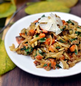 fall veggie orzo