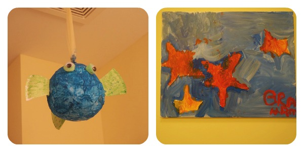kids bath art