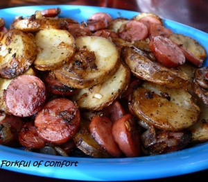 sausage and potatoes