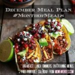 #MonthofMeals: December Meal Plan