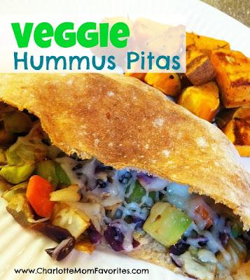 veggie hummus pitas