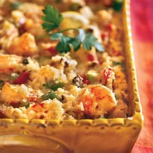 mardi gras cajun shrimp casserole recipe from southern living