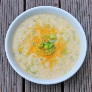 cheddar cauli soup