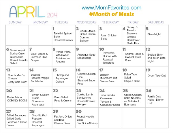 april month of meals menu sm
