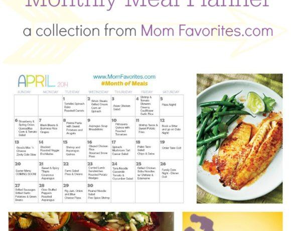 #MonthofMeals April – Your Monthly Menu Collection