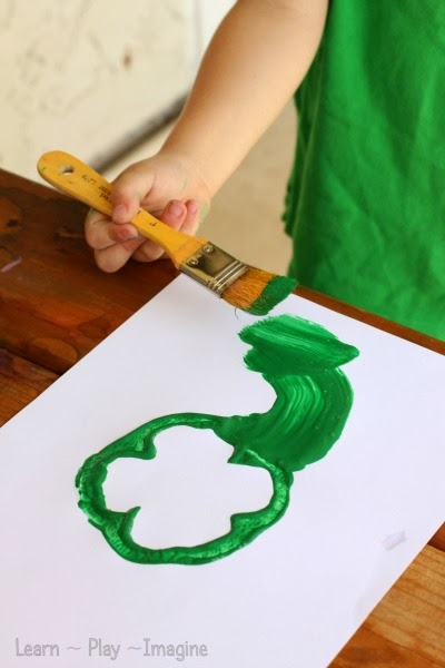st patricks day 2 bell pepper clover print