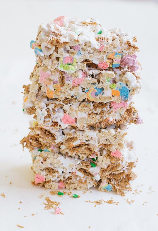 st patricks day 5 cereal bars