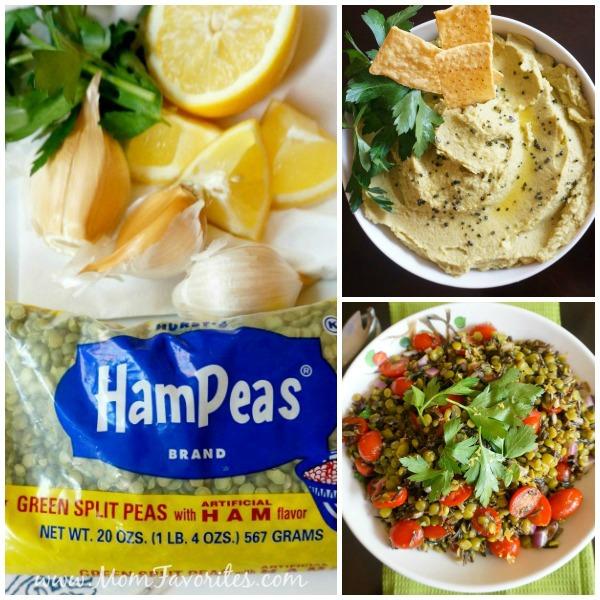 Split peas recipes collage