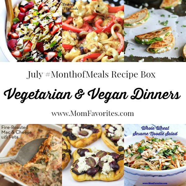 vegetarian main dishes july