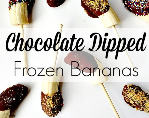Afterschool Snacking: Chocolate Dipped Frozen Bananas