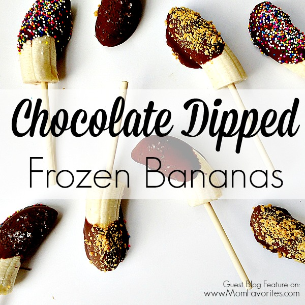 Chocolate Dipped Frozen Bananas, www.MomFavorites.com
