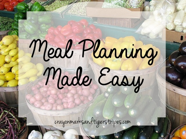 Meal Planning Made Easy, www.MomFavorites.com