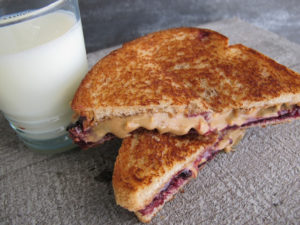 PB&J grilled sandwich