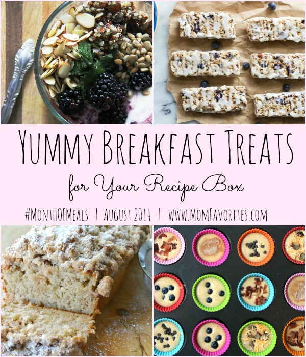 Breakfast Recipes - Month of Meals: www.MomFavorites.com