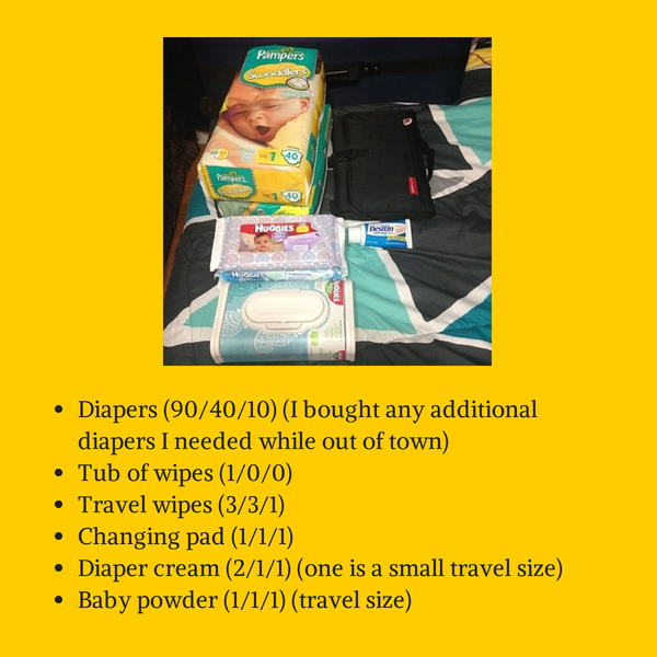 Diapering - Traveling with a Newborn: www.MomFavorites.com