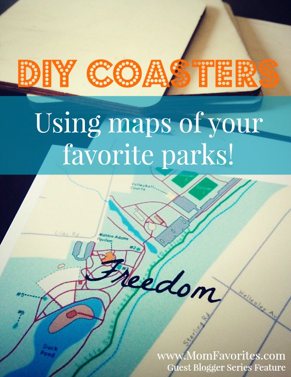 DIY Map Coasters from Mom Favorites