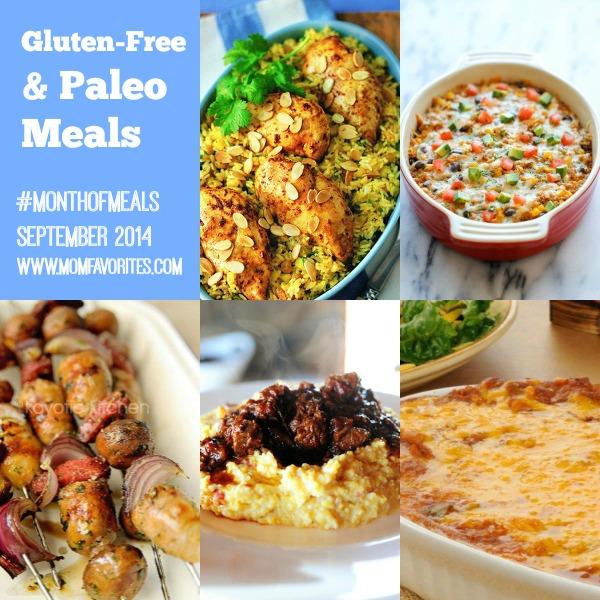 Gluten Free & Paleo Dinners: Month of Meals - www.MomFavorites.com