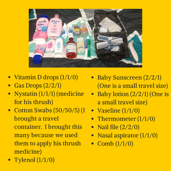What to pack when traveling with a newborn: www.MomFavorites.com
