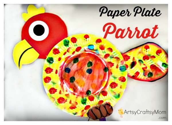DIY Paper Plate Parrot .MomFavorites.com  sc 1 st  Forks and Folly & DIY Paper Plate Parrots - a Great Playdate Craft! - Mom Favorites