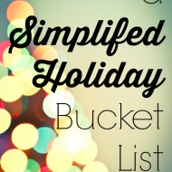 A Simplified Holiday Bucket List
