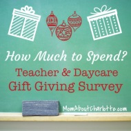 How Much To Spend on Teacher Gifts and Day Care Providers?
