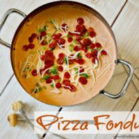 Pizza Fondue with Hormel Pepperoni