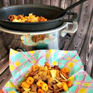 Slow Cooker Snack Mix for Basketball Season
