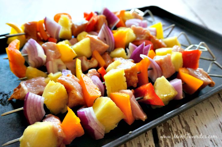 Need a simple grilling recipe your whole family will love?  Try this Pork & Pineapple Fajita Kabobs recipe! A great summer meal with just a few ingredients!