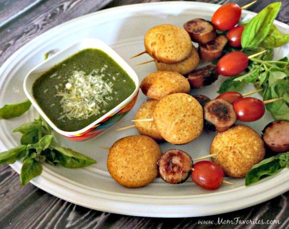 Sausage Caprese Kabobs – an Easy Party Recipe