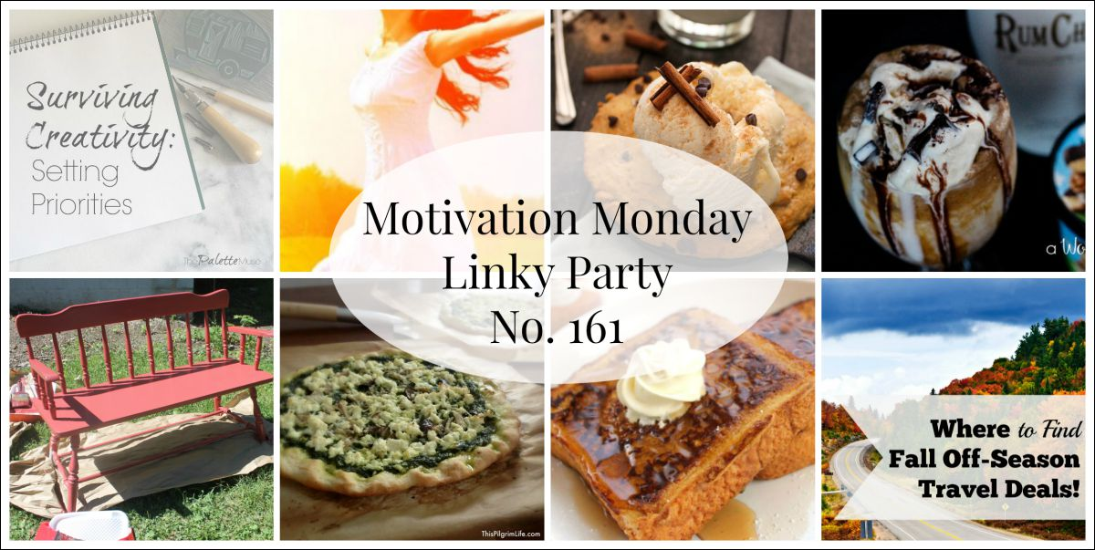Motivation Monday Linky Party 161 - Open Sunday 6:30 pm at www.alifeinbalance.net