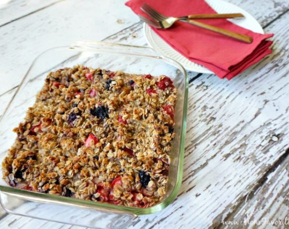 Berry Baked Oatmeal Recipe: Gluten Free & Dairy Free