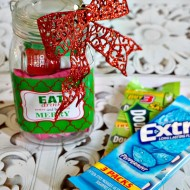 Here's a crafty DIY Mason Jar Gift featuring inexpensive items to show appreciation during the holidays. Perfect for teachers, bus drivers, mailmen, neighbors and anyone else that needs some Christmas love!