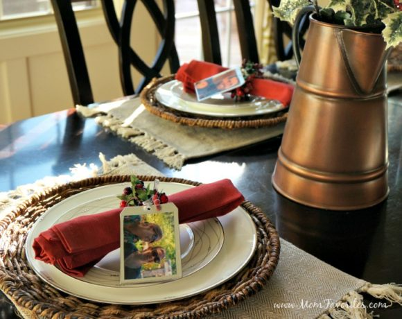 Take the hassle out of photo printing with a desktop photo printer, and then make these fun DIY photo place cards for the holiday table!