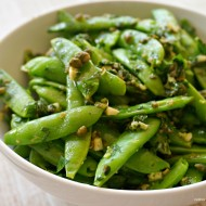 Sugar Snap Peas with Caper Dressing: Family Dinner Sides